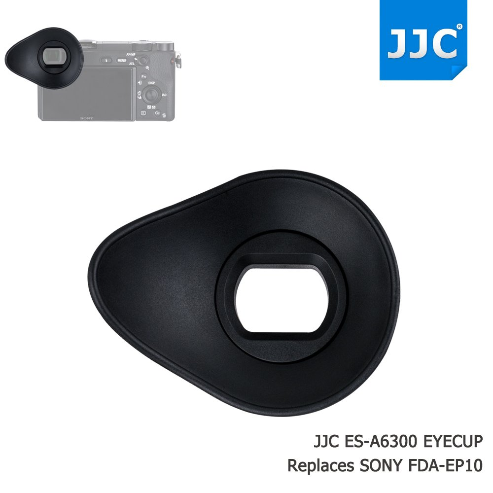 JJC Soft Silicone 360º Rotatable Ergonomic Oval Shape Camera Viewfinder Eyecup Eyepiece for Sony ILCE A6300 A6000 NEX-6 NEX-7 Replace Sony FDA-EP10