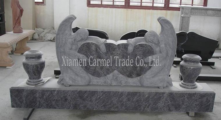 American Granite Headstone With Angel Wings Buy