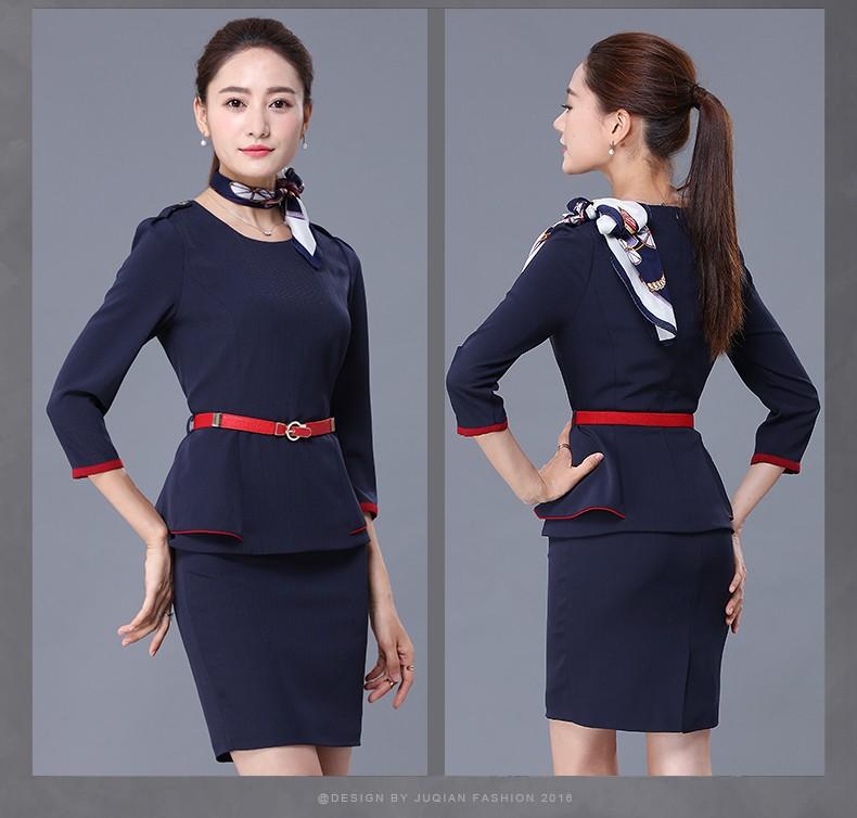 Hot fashion style new autumn women dresses office uniform for Office design uniform