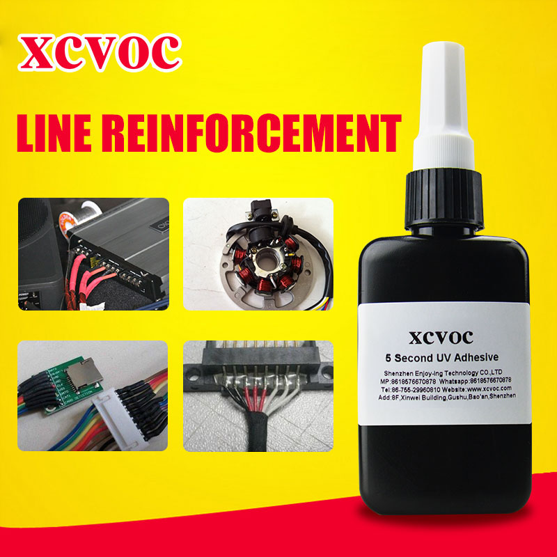 Free Sample Electronic Fixed Glue Cable Fixed Adheisve PCB UV <strong>Adhesive</strong> Cured in 3 Seconds Electonic Glue