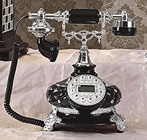 HYY@ Black Diamond antique European-style retro landline telephone vintage retro old telephone landline