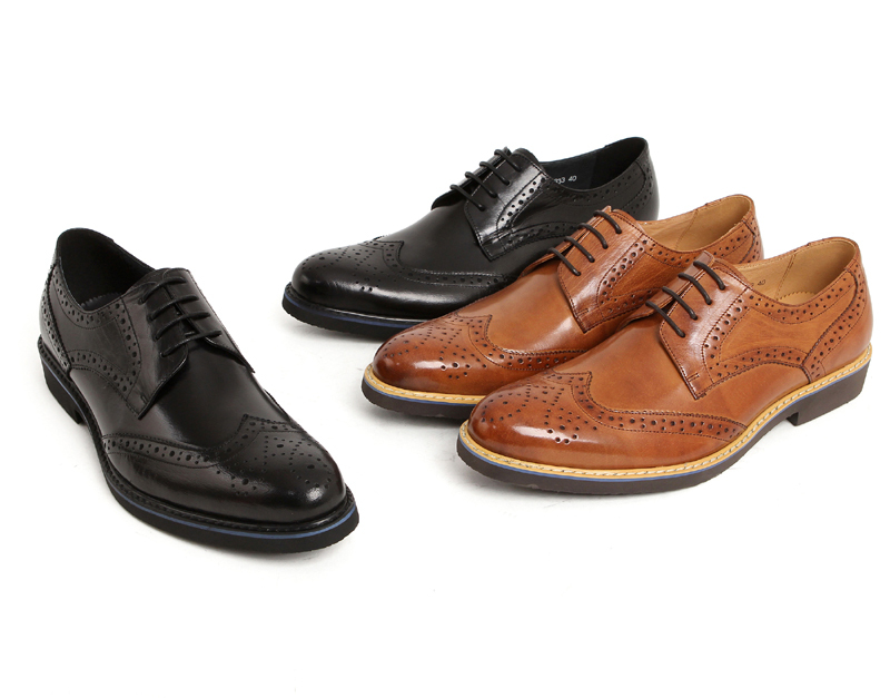 Fashion Black Coffee Mens Wedding Shoes Comfortable Business Genuine Leather Dress New Derby