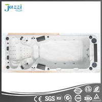 JAZZI Acrylic Swimming Pool Spa,Rectangular Above Ground Swimming Pool,Big Backyard Hard Plastic Swimming Pool Cover SKT339E-1