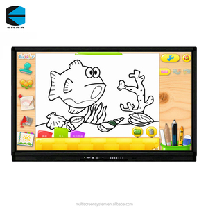 EKAA 65inch touch screen all in one pc, finger touch interactive whiteboard/electronic drawing smart white board