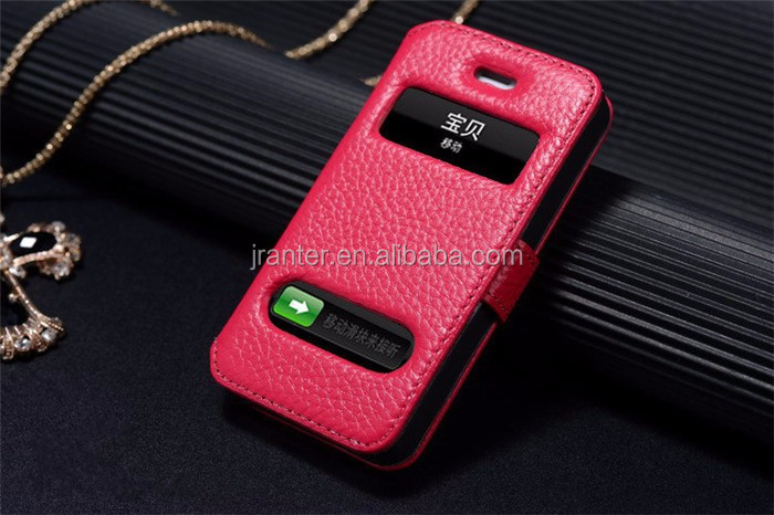 2016 Design Leather Flip Case for iPhone 5 OEM for iPhone Case 5c