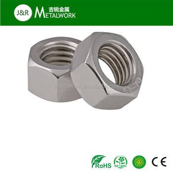 M30 M20 A2 A4 stainless steel SS304 SS316 hex nut DIN934