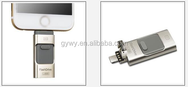 Usb 32GB for iPhone android dual-use computer u disk 64g triad high-speed otg usb flash drive