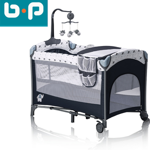 Multi function OEM cheap folding portable baby crib