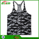 Popular Professional Sublimation Printing Camo Men's Gym Singlet