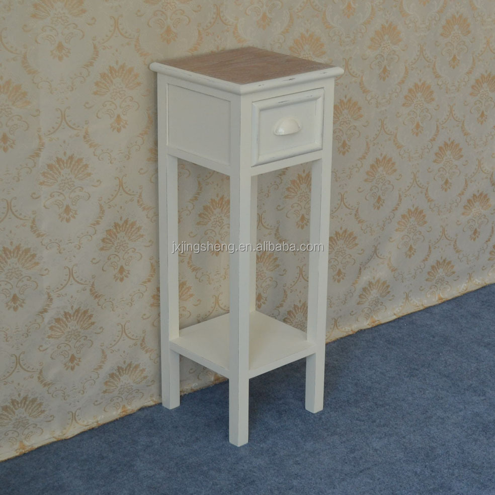 Superb High Glossy White Telephone Table MDF Drawer Cabinet