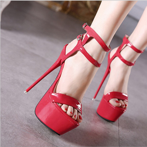 China market shoes women mature sandals high heels low price ladies sandals