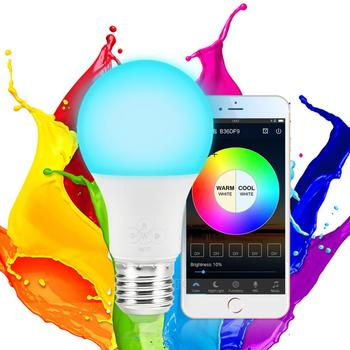 hot wifi smart light bulb rgb with alexa wifi (2.4ghz) google home 8w 800lm (60w equivalent) dimmable color changing