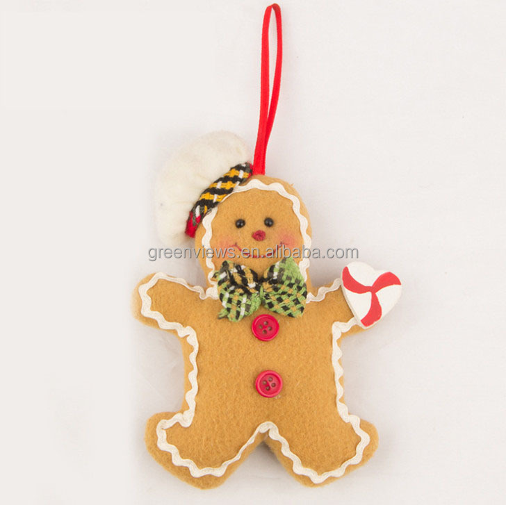 Christmas fabric hang outdoor christmas decoration cookies design Home Decoration velvet Xmas Hanging Christmas Product