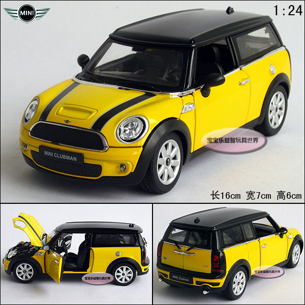 New MINI CLUBMAN 1:24 Diecast Model Car Yellow With