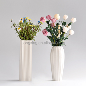 china manufacturer pure white tall ceramic flower vase