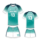 2017 Latest Design Youth Blank Used Green Cheap Wholesale Soccer Uniform