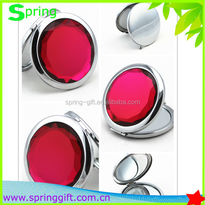 High quality metal fold lady makeup mirror pocket cosmetic mirror