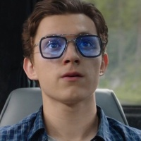 61119 Superhot Eyewear 2019 Movie Spiderman Far from Home Tony Stark Sunglasses Edith Glasses