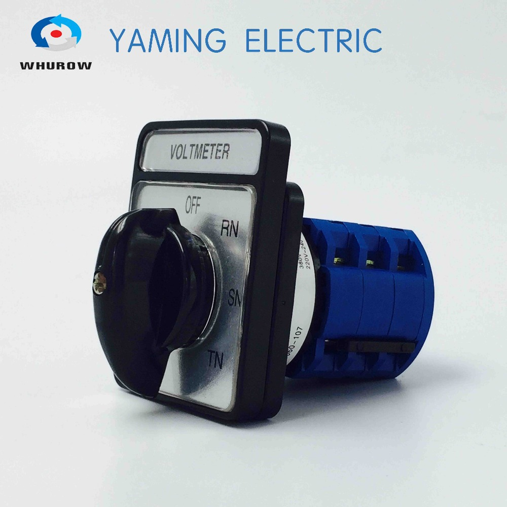 Factory sale Selector Voltmeter Changeover switch 20A 7 Position 3 phases rotary cam switch control circuit