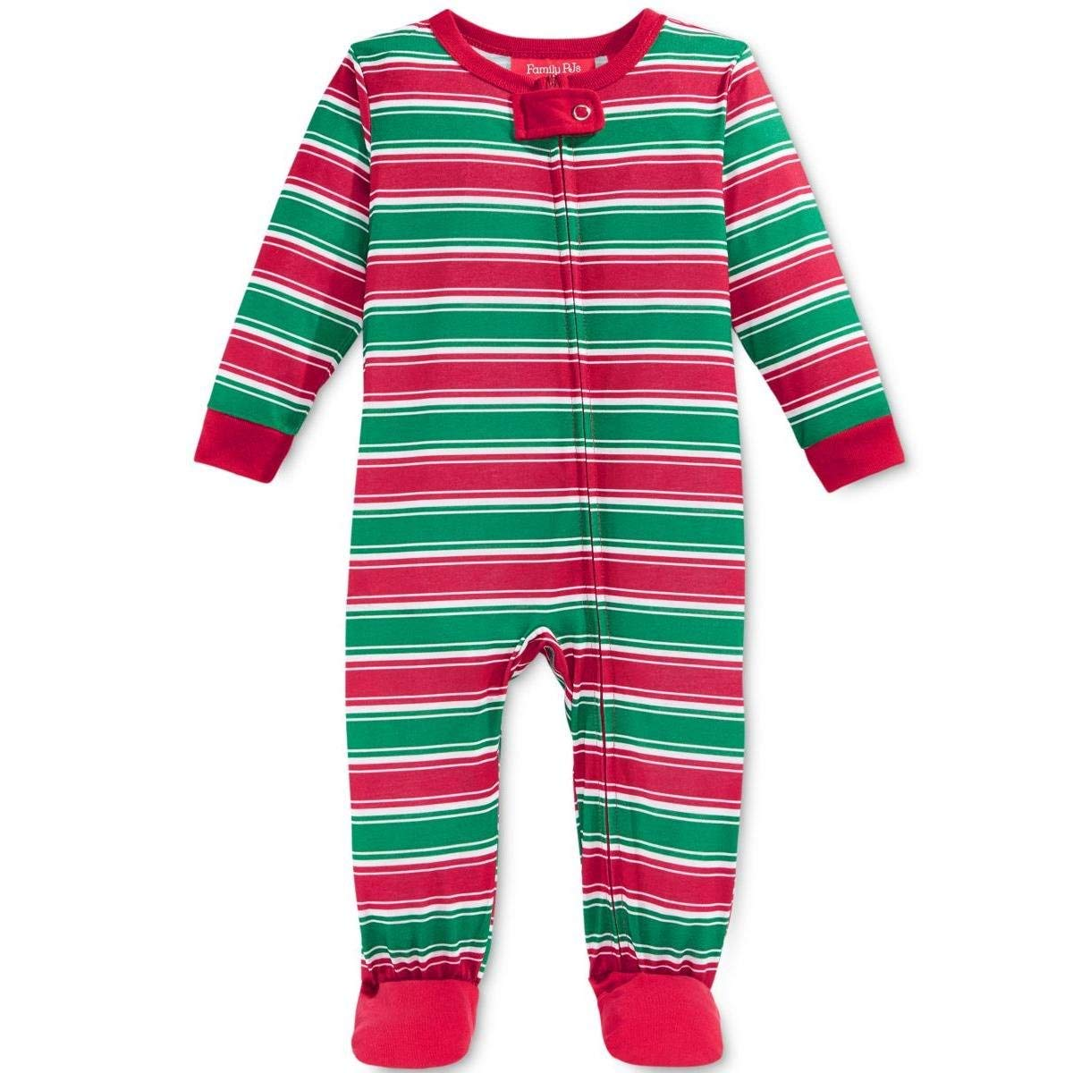 Get Quotations · Family PJs Striped Holiday Footed Pajamas 7c9a786dd