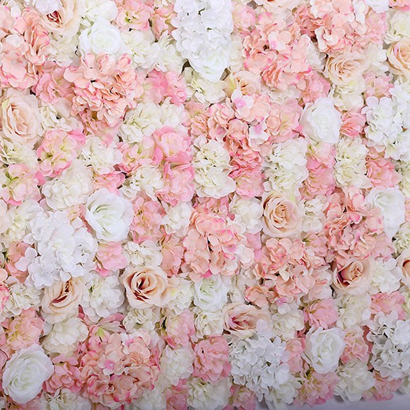 Event Flower Wall Rose And Hydrangea With Wedding Backdrop