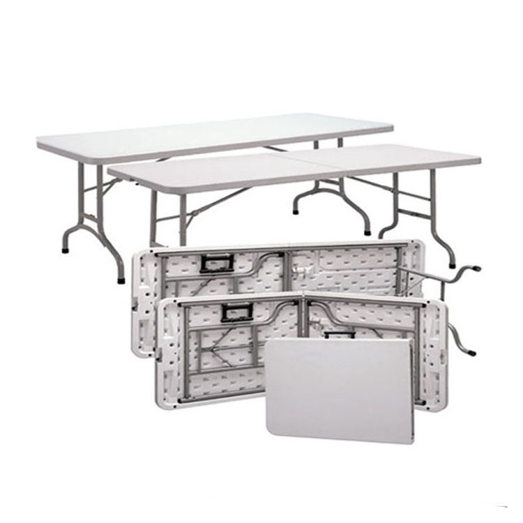 2018 cheaper price dining event 1.8 M rectangle Plastic folding table