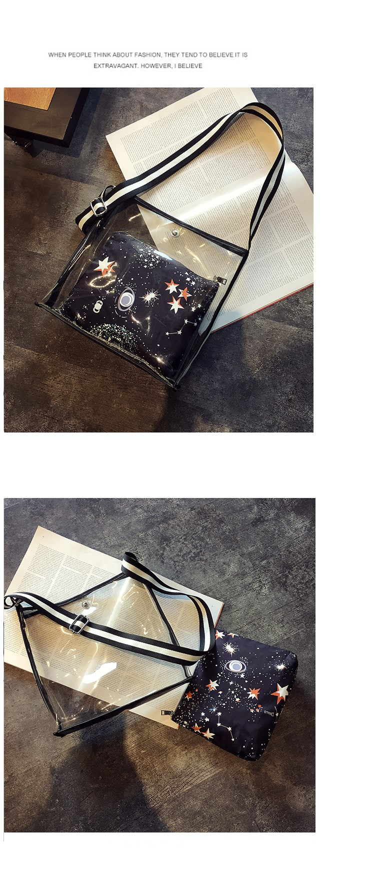 hot sell Transparent bags 2017 the newest bag in bag