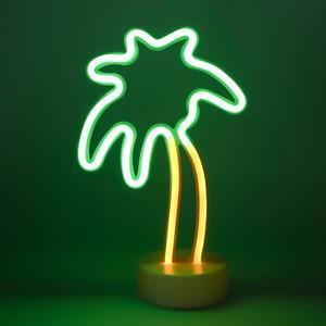 Battery Or USB Drive LED palm tree Neon Light Sign For Christmas Birthday Party Living Room Kitchen Table Children Kids Gifts