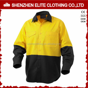 Cheap Custom Mechanic Button Up Blue Cotton Work Shirts
