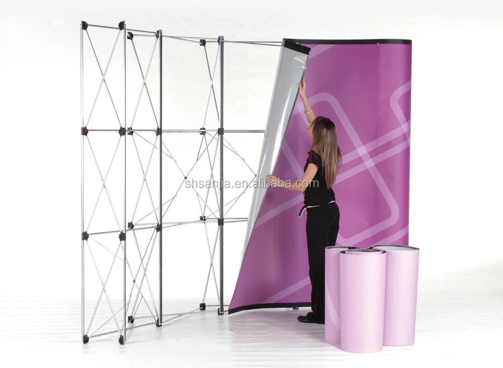 trade show folding booth pop up banner exhibition display