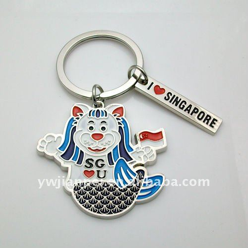 Metal Singapore Lion Shape Keychain - Buy Singapore Keychain a4031eba0b57