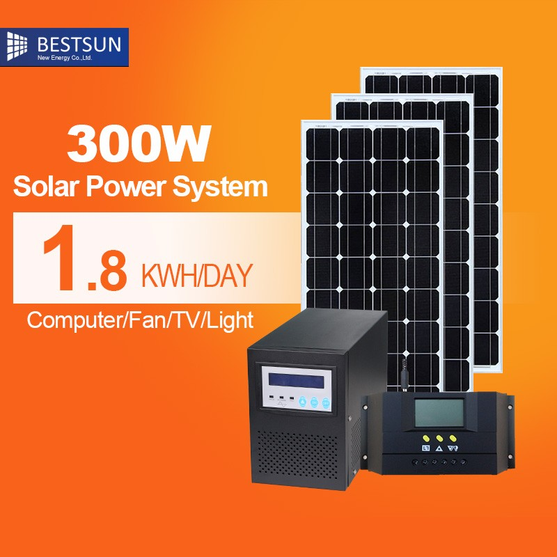 BESTSUN 20w portable small mini rechargeable led home lighting solar power system for small house indoor 300W