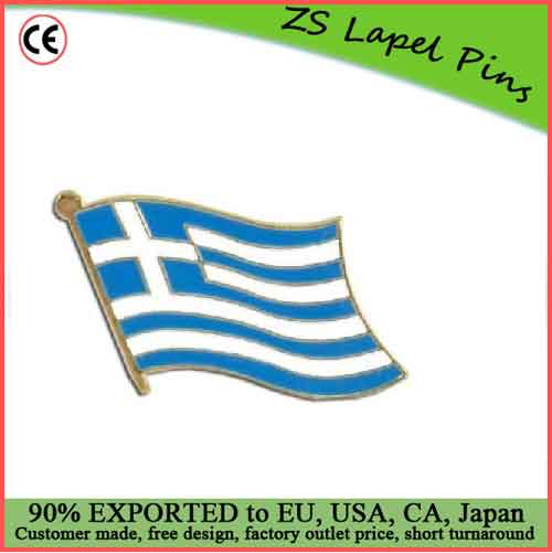 Custom top quality hot gift product Greece Lapel Pin Bage