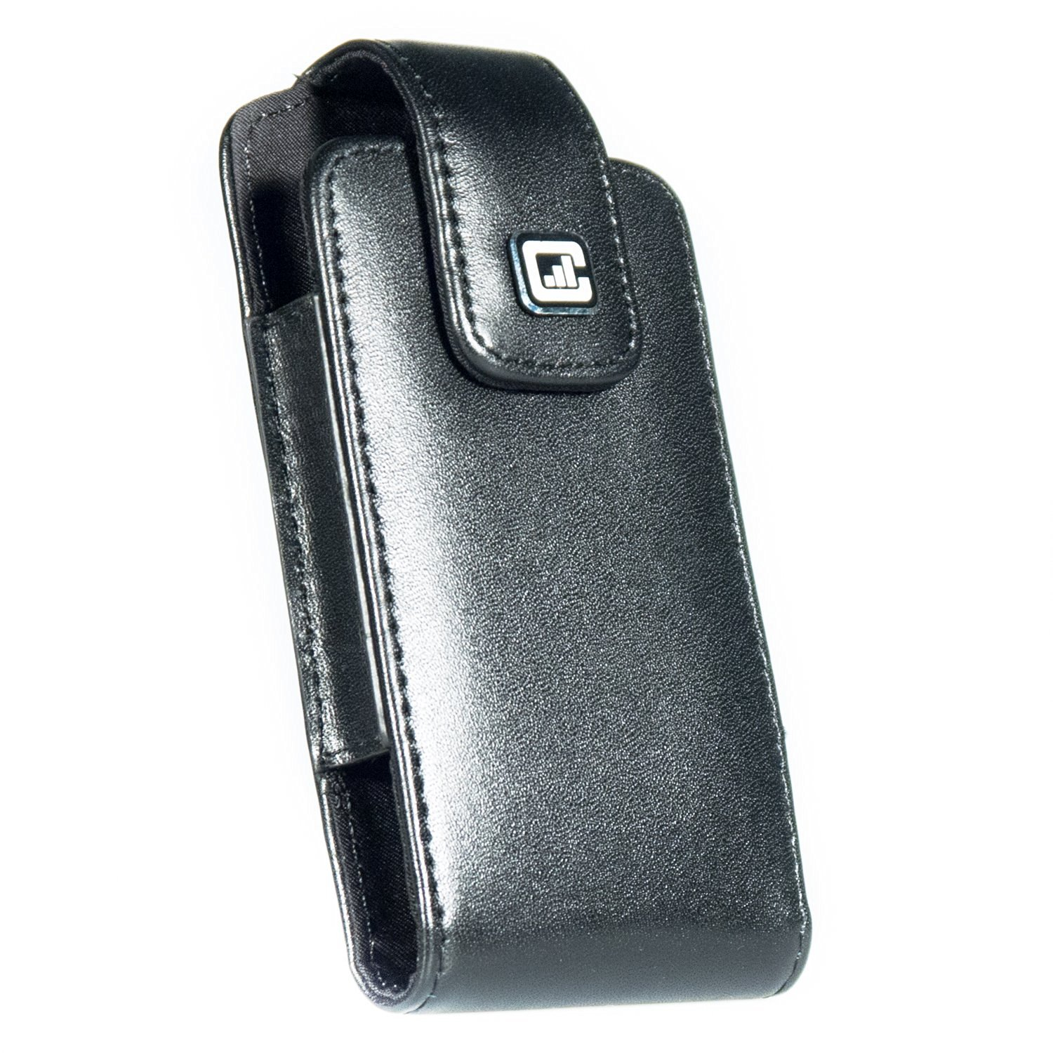 CASE123® MPS SL Special Edition Large Oversized Geniune Leather Swivel Belt Clip Holster for Apple iPhone 5/5s/5c -- For use with no cases or covers