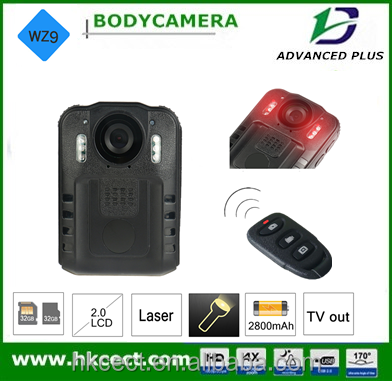 32GB internal memory and 32GB external memory Built-in Microphone police video body worn camera