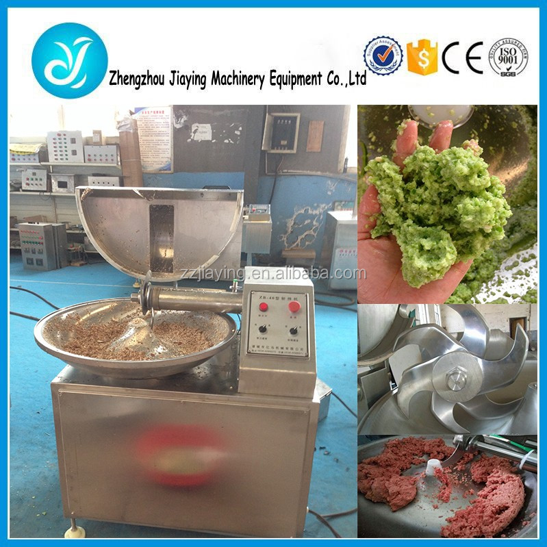 Vacuum Automatic Meat Bowl Cutter/Meat Cutting And Mixing Machine /Vegether Meat Chopping Mixer Machine