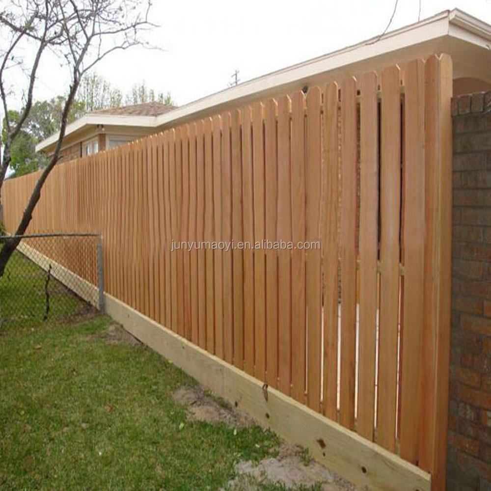 2018 New Cedar Wood Fence Panels Dog Ear Pickets For Garden