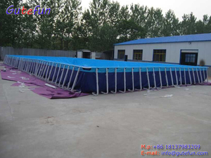 Gutefun brand above ground swimming pool 25m*15m*1.5m