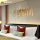 Restaurant hotel office home rose gold modern 3D metal craft design abstract wall decoration sculpture