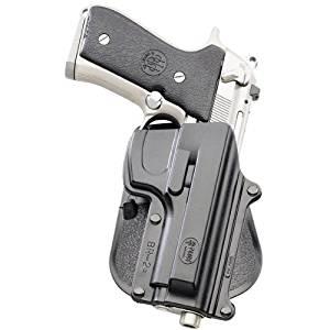 Fobus Tactical BR-2 Paddle Style Self Locking Beretta 92F/96 except Brig. & Elite / Taurus PT 92 & 99 cs Right Hand Gun Holster-Black