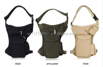 Men Belt Bag Canvas Leg Bags With Four Pocket - Buy Military Leg Bag ...