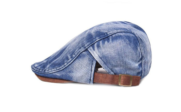 Vintage Denim Newsboy Flat Cap Gatsby Cap Ivy Irish Cabbie Driver Hunting  Hat 01f0cd7dbf5