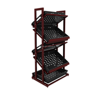 Factory hot sale gondola for fruits vegetables display shelf fruit vegetable storage price