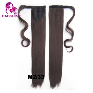 Straight Clip In Ponytail Hair Extensions Hairpiece Fake Hair pony Tails ponytails hair pieces
