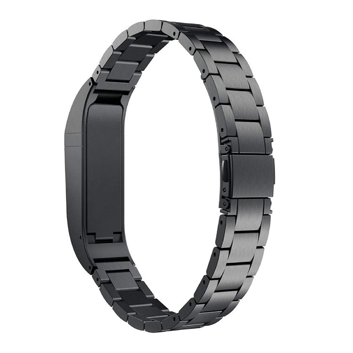 Owill Durable Stainless Steel Strap Wrist Band Replacement Bracelet For Fitbit Flex, Length:235MM (Black)