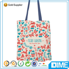 Heat press printed on ladies canvas shoulder bag canvas shopping bag