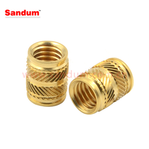 Brass threaded inserts for ultrasonic welding,thermoplastics using