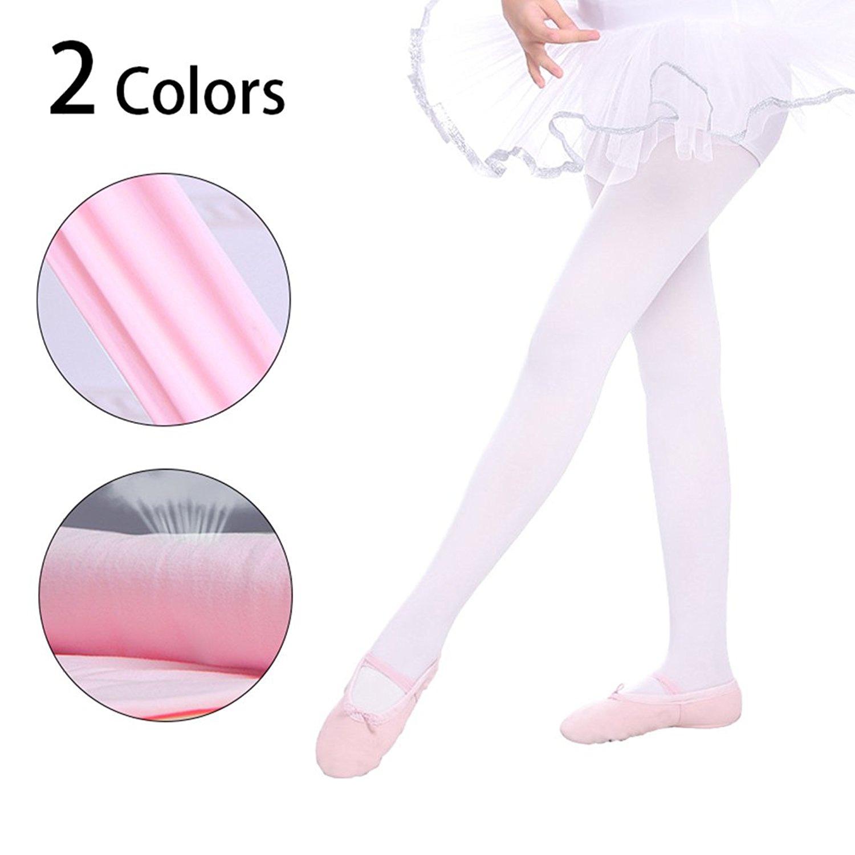 3ab1366912d66 Get Quotations · Girls' ultra Soft Professional Dance Tight/ Soft  Microfiber Socks Dance Leggings(Toddler/