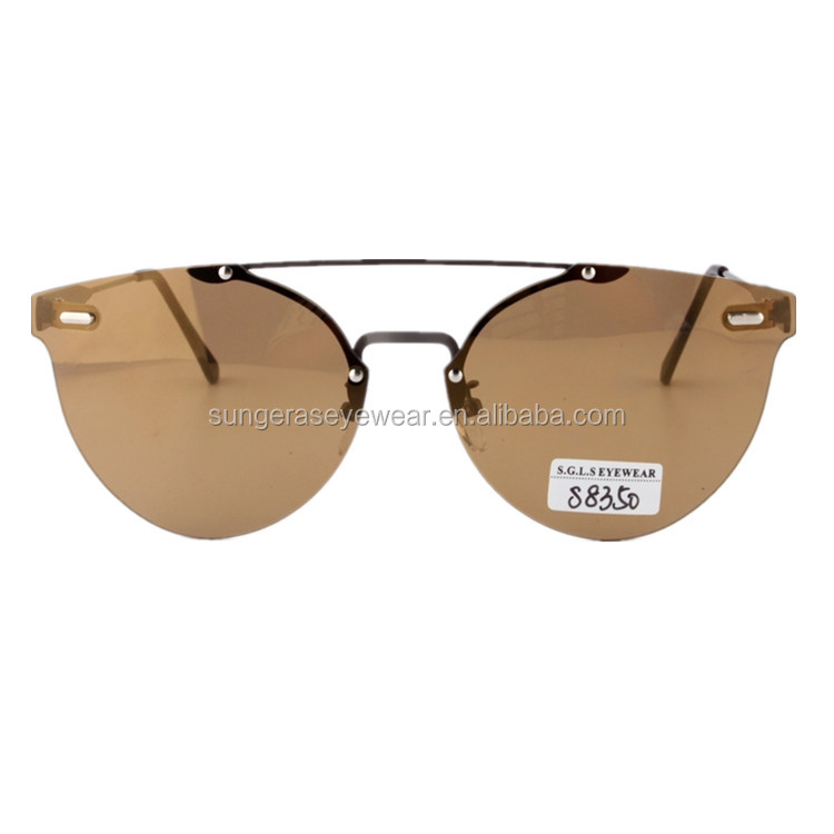 Sungeras metal frame mirro lens light wholesale in china pilot metal flat lens uv400 for men low price retro sunglasses vintage