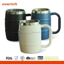 Premium quality powder coating 18/8 Beer Mug with handle for beer